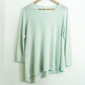 Eileen Fisher Sweater Asymmetrical Linen Mint